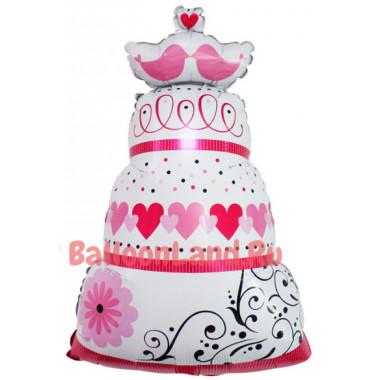 Фигурный шар Большой Свадебный Торт