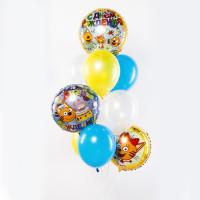 Фонтан из гелиевых шариков с персонажами м/ф Три кота