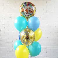 Фонтан из шариков Три кота с шарами конфетти