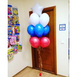 Фонтан из шаров флаг России триколор