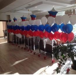 Композиция из воздушных шаров Триколор на ваше мероприятие