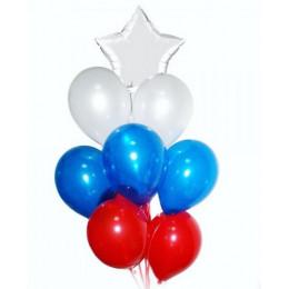 Букет из воздушных шаров на праздник День России