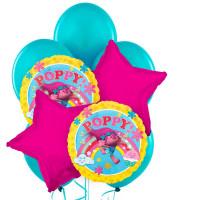 Букет шаров Принцесса Розочка с розовыми звездами