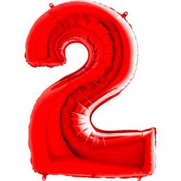 Шар-цифра Красная Двойка 2