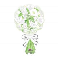 Фигурный шар Букет белых цветов