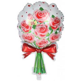 Фигурный шар Букет розовых роз