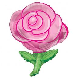 Фигурный шар Розовая роза