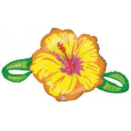 Фигурный шар Желтый Гибискус