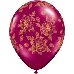 Шары Элегантные розы Бургунди