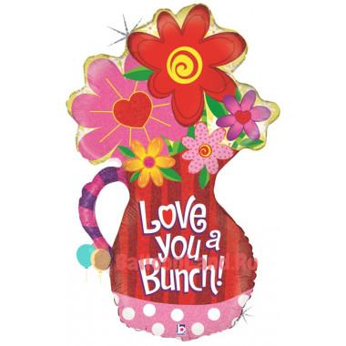 Фигурный шар Кувшин с цветками