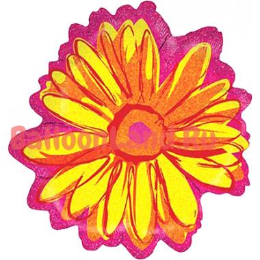 Фигурный шар Желто-розовый цветок