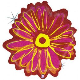Фигурный шар Красно-розовый цветок