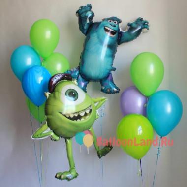 Композиция из воздушных шариков Майк Вазовски и Джеймс Салливан