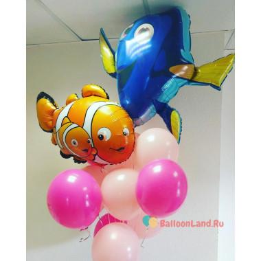 Букет шариков с героями м/ф В поисках Немо
