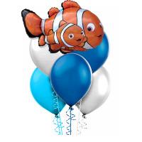 Букет шариков рыбки из мультика В поисках Немо