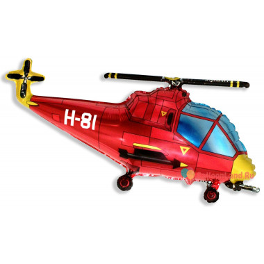 Фигурный шар Красный Вертолёт