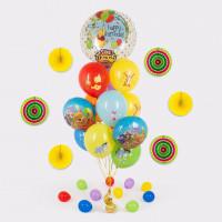 Букет шариков с поющим шаром Винни Пух