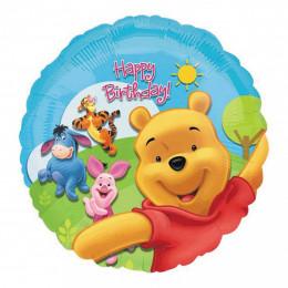 Шар-круг Happy Birthday с Винни Пухом и его друзьями