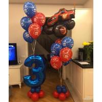 Композиция на День Рождения Вспыш с цифрой