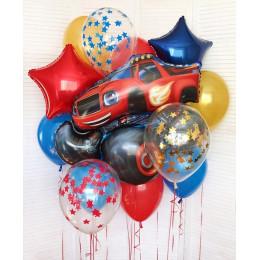 Набор гелиевых шаров со Вспышем, звездами и шарами с конфетти