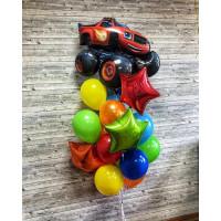 Букет шариков со Вспышем и звездами