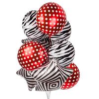 Букет шаров с принтом зебра