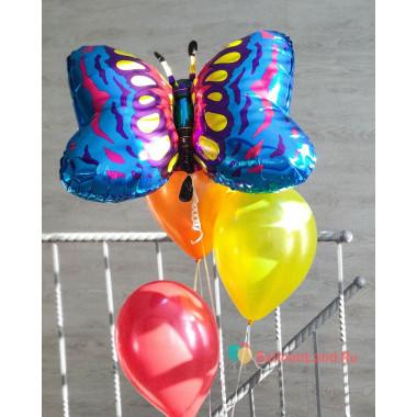 Букет из гелиевых шаров с бабочкой