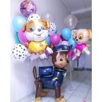 Композиция из шариков собаки на День Рождения