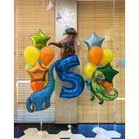Композиция из шариков на День Рождения Эпоха Динозавров
