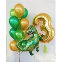 Композиция из шаров на День Рождения с Тираннозавром