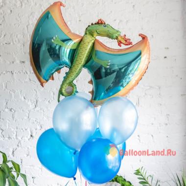 Букет воздушных шаров с Огнедышащим Драконом