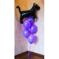 Букет из шариков с Пантерой