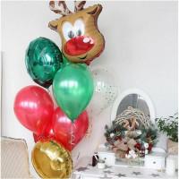 Букет шаров с Рождественским оленем