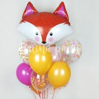 Букет гелиевых шариков с Лисичкой