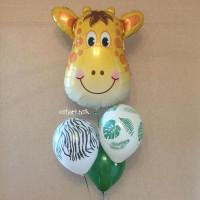 Букет из гелиевых шариков с Жирафиком