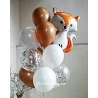 Букет воздушных шаров с Лисенком