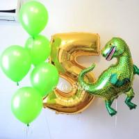 Набор гелевых шариков Тираннозавр с цифрой