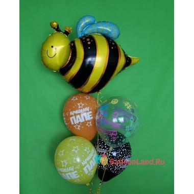 Букет из шаров Папе с Пчелкой на День Рождения