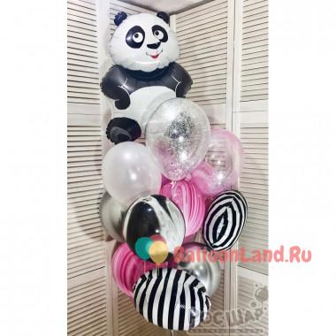 Букет шаров с Пандой для девочки