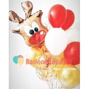 Букет из шариков с Оленем на праздник
