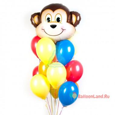 Букет из шаров с обезьянкой