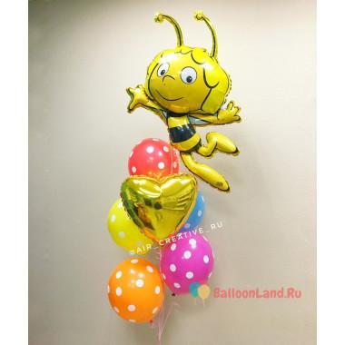 Букет из воздушных шариков с героиней мультфильма Пчелкой Майа