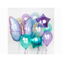 Набор гелевых шариков с бабочкой и звездочками