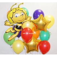 Набор шариков с гелием Пчелка Майа со звездами