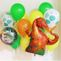 Набор шаров с красным Динозавром