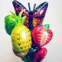 Букет шаров бабочка Монарх с фруктами