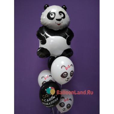 Букет из шариков на День Рождения Панды
