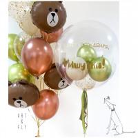 Композиция из шаров поздравление для Мишутки