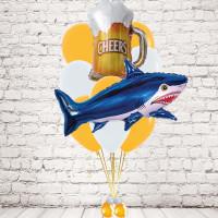 Букет шаров с гелием с Акулой и кружкой пива