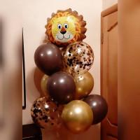 Букет шариков со Львом
